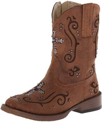 Roper Faith Square Toe Bling Cowgirl Boot (Toddler/Little Kid)