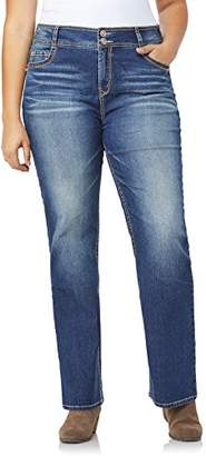 WallFlower Junior's Tall Plus-Size InstaStretch Luscious Curvy Bootcut Jeans