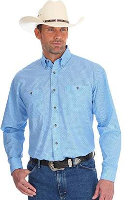 Wrangler Men's George Strait Long Sleeve Button Front Shirt