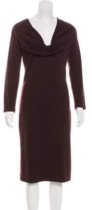 Salvatore Ferragamo Wool Midi Dress