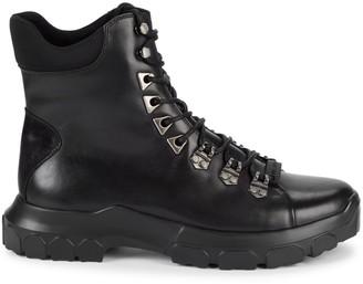 Karl Lagerfeld Paris Leather & Textile Hiker Boots