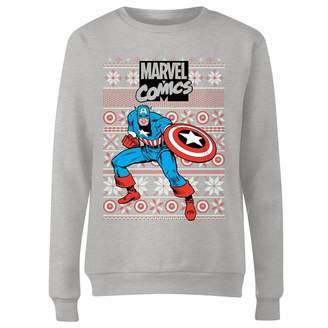 Marvel Avengers Captain America Women's Christmas Sweatshirt