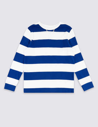Marks and Spencer Pure Cotton Striped Top (3-16 Years)
