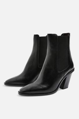 Topshop MORTY Angled Heel Boots