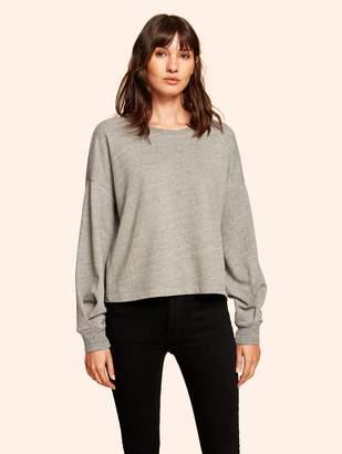 White + Warren French Terry Blouson Sleeve Sweatshirt