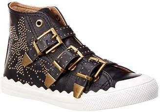Chloé Kyle Studded High-Top Leather Sneaker