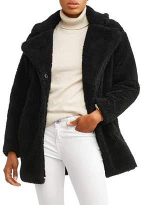 JASON MAXWELL Women's Oversized Sherpa Jacket