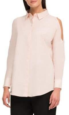 DKNY Cold-Shoulder Blouse