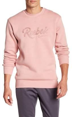 Reebok Brand Logo Chain Crew Neck Sweater