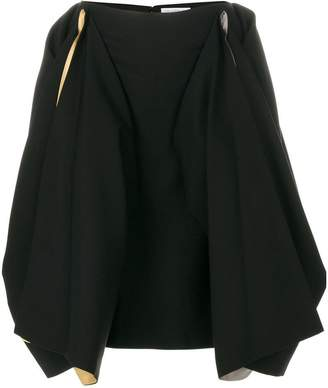 J.W.Anderson draped contrast colour skirt