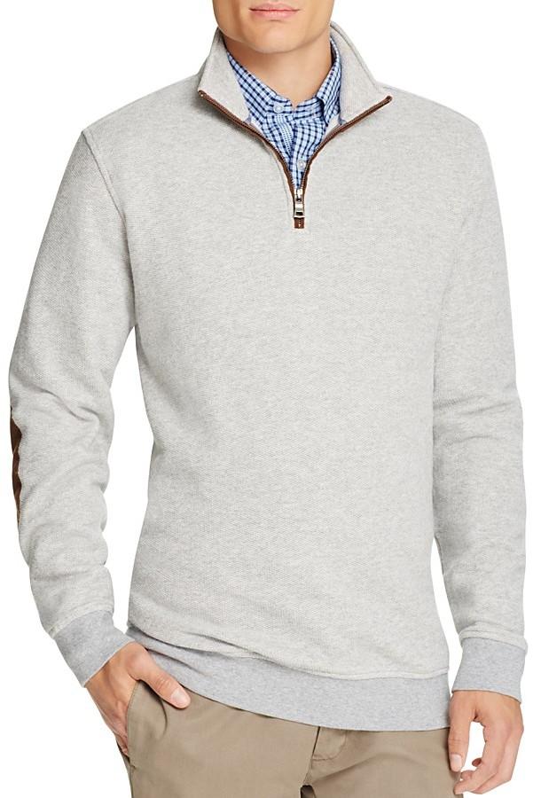 Brooks Brothers Brooks Brothers Piqué Birdseye Half-Zip Sweater