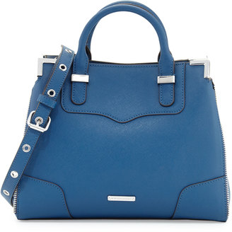 Rebecca Minkoff Amorous Small Saffiano Satchel Bag, Navy $215 thestylecure.com