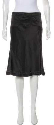 Just Cavalli Flared Knee-Length Skirt Black Flared Knee-Length Skirt
