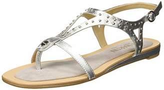 JB Martin Women's Alanis Sling Back Sandals, Grey (Marron Metal T Cam Perle Silver)