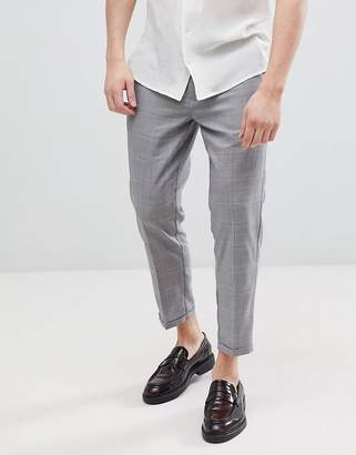 Pull&Bear Tailored Pants In Gray Check