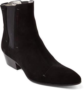 Rochas Black Suede Chelsea Boots