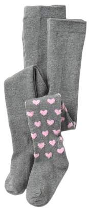 Limited Too Heart Feather & Heather Grey Tights (Toddler Girls)