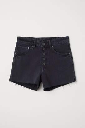 H&M Mom Fit Denim Shorts - Black