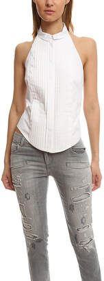 Pierre Balmain Halter Button Up Top