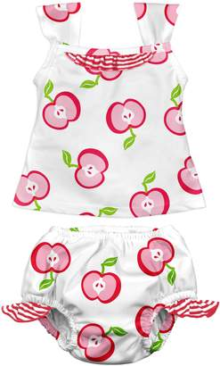I Play I-Play Baby Girls' Tankini Set with Built-In Swim Diaper