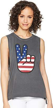 Hurley Women's Washed Muscle Tank Top