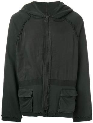 Haider Ackermann raw edge detail hoodie