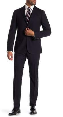 Ermenegildo Zegna Abito 2 Pezzi Navy Stripe Two Button Notch Lapel Classic Fit Wool Suit