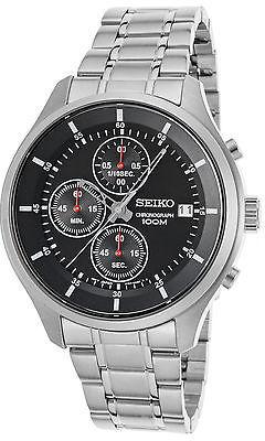 SeikoSeiko SKS539P1 Men's Neo Sports Chronograph Stainless Steel Black Dial