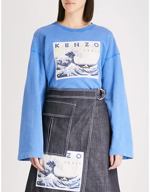 Archive Wave cotton-jersey sweatshirt