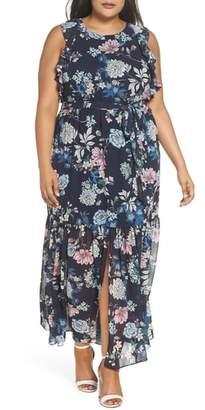 Vince Camuto Ruffle Chiffon Maxi Dress
