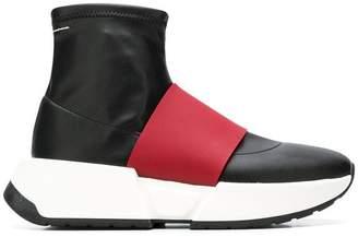 MM6 MAISON MARGIELA panelled sock sneakers