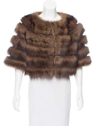 Christian Dior Sable Fur Cropped Jacket