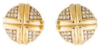 Nina Ricci Crystal Clip-On Earrings