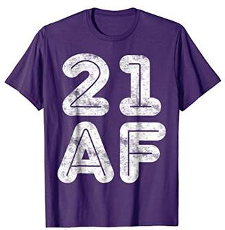 Abercrombie & Fitch 21 T-Shirt Funny 21st Birthday Gift Shirt