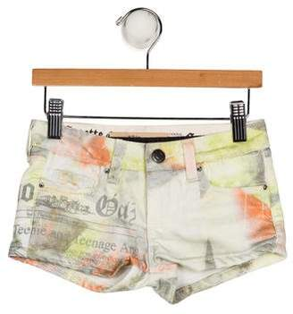 John Galliano Girls' Printed Mini Shorts