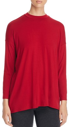 Eileen Fisher Mock Neck Tunic $148 thestylecure.com