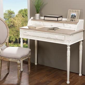 Baxton Studio Anjou French Accent Writing Desk