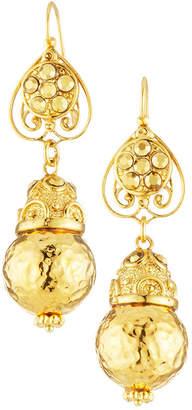 Jose & Maria Barrera Hammered Dangle Earrings
