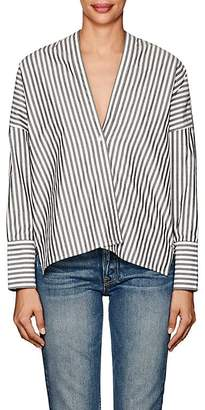 Nili Lotan Women's Sabine Striped Cotton Poplin Blouse