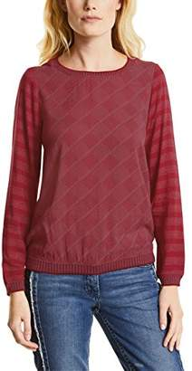 Cecil Women's 340712 Longsleeve T-Shirt, (Cranberry red 21088)