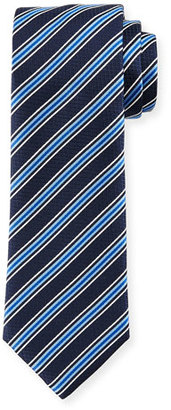 Boss Hugo Boss Rep-Striped Silk Tie, Navy $135 thestylecure.com