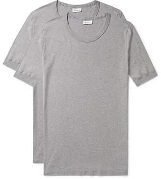 08d6c00613e1 Schiesser Two-Pack Karl Heinz Cotton T-Shirts - Men - Gray