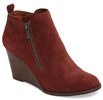 Lucky Brand Yesterr Leather Wedge Bootie