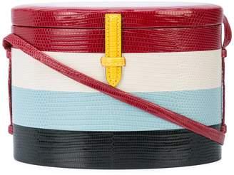 Hunting Season striped oval shape crossbody bag