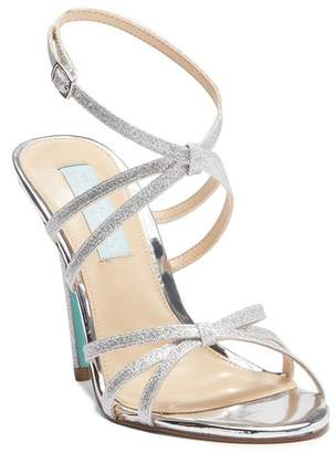 Betsey Johnson Myla Glitter Strap High Heel Sandal