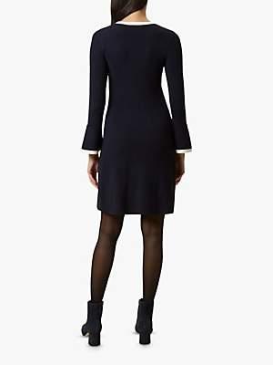 Hobbs Willow Dress, Navy/Ivory