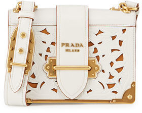 Prada Cahier Laser-Cut Shoulder Bag $3,080 thestylecure.com