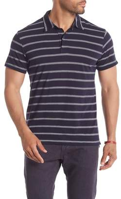 Save Khaki Short Sleeve Multistripe Polo