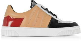 Proenza Schouler Light Brown Nappa and Silver Laminated Leather Sneakers