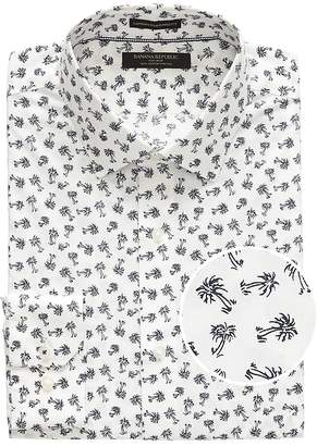 Banana Republic Camden Standard-Fit Non-Iron Stretch Palm Print Shirt
